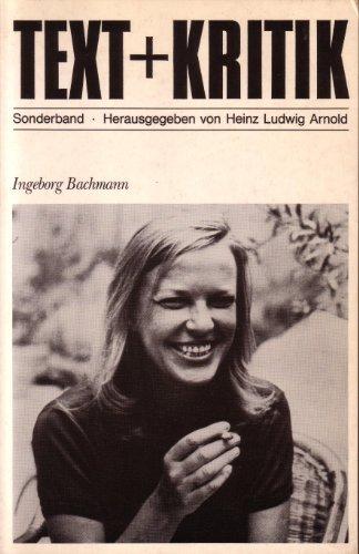 9783883771892: Ingeborg Bachmann (Text + Kritik. Sonderband)