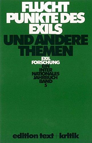 9783883772639: Fluchtpunkte des Exils und andere Themen