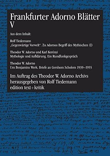 9783883775616: Frankfurter Adorno Blätter 5