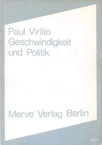 Geschwindigkeit und Politik: Paul Virilio