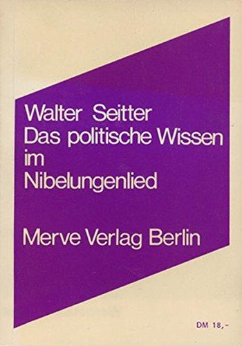 9783883960616: Das politische Wissen im Nibelungenlied: Vorlesungen (German Edition)