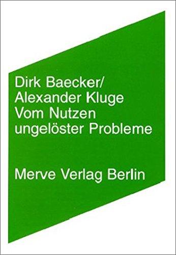 9783883961866: Vom Nutzen ungelöster Probleme