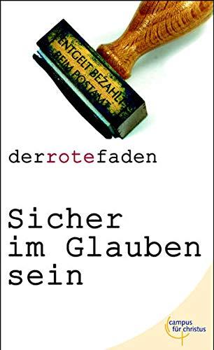 9783884041338: Sicher im Glauben sein (Livre en allemand)