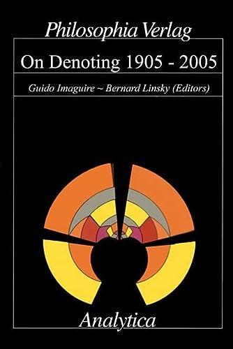 9783884050910: On Denoting: 1905-2005