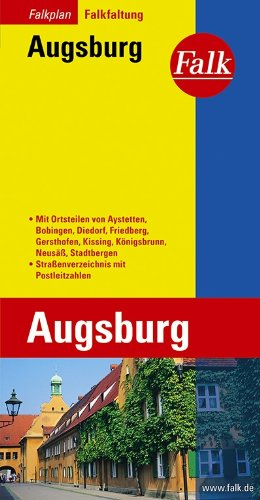 9783884450154: Falk Stadtplan Falkfaltung Augsburg