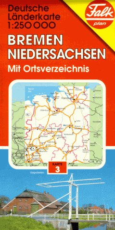 Falk Pläne, Bremen, Niedersachsen German Lander