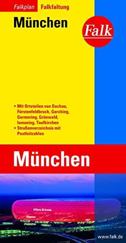 9783884452387: Falk Stadtplan Falkfaltung München: Mit Ortsteilen von Dachau, Fürstenfeldbruck, Garching, Grünwald, Ismaning, Taufkirchen. Mit City-Guide. Falk-Faltung. Straßenverzeichnis mit Postleitzahlen