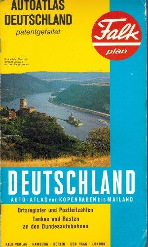 9783884453568: Deitschland Auto-Atlas von Kopenhagen bis Mailand