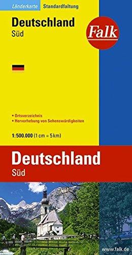 Landerkarte Deutschland Sud Map By Falk