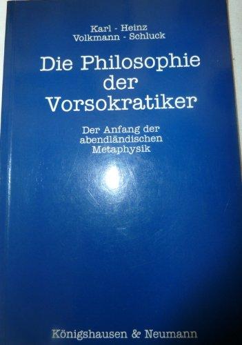 9783884797068: Die Philosophie der Vorsokratiker