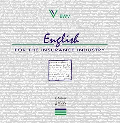 9783884877777: English for the Insurance Industry