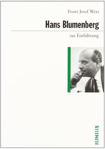 9783885063896: Hans Blumenberg zur Einf�hrung