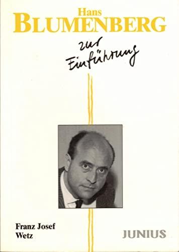 9783885068877: Hans Blumenberg zur Einführung