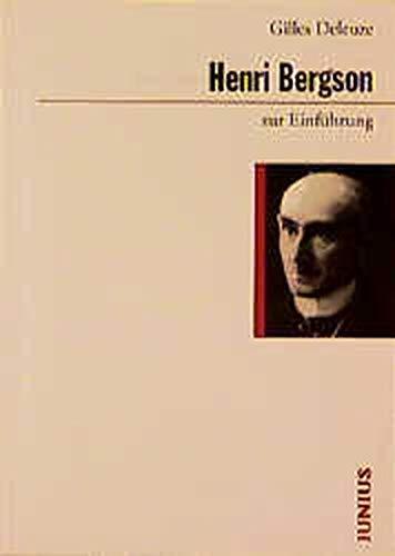 9783885069546: Henri Bergson zur Einführung