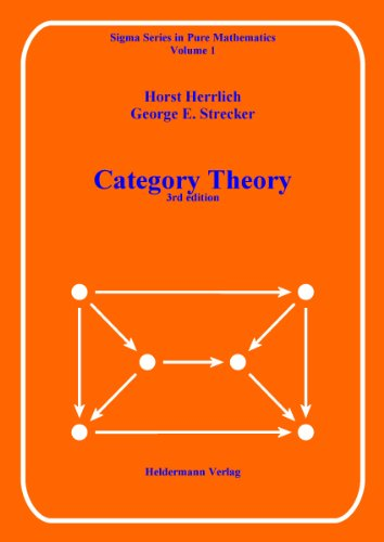 9783885380016: Category theory: An introduction (Sigma series in pure mathematics)