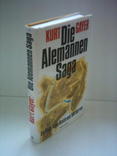 9783885711155: Die Alemannen-Saga. Ein Volk, kein Reich und 100 Herren (Livre en allemand)