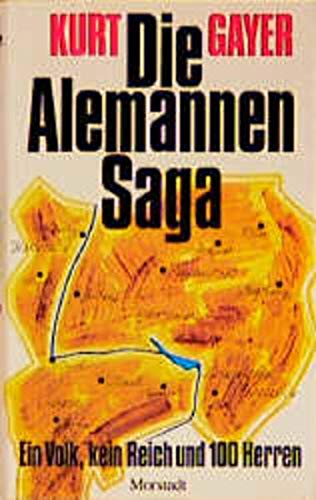 9783885712138: Die Alemannen-Saga