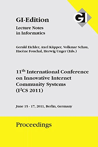 Proceedings 186 11th International Conference on Innovative Internet Community Systems (I2CS 2011)
