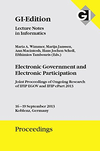 GI Edition Proceedings Band 221 - Electronic Government and Electronic Participation: Maria A ...