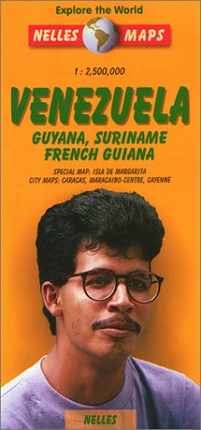 9783886185610: Nelles Venezuela Travel Map with Guyana, Suriname, French Guiana (Nelles Map)