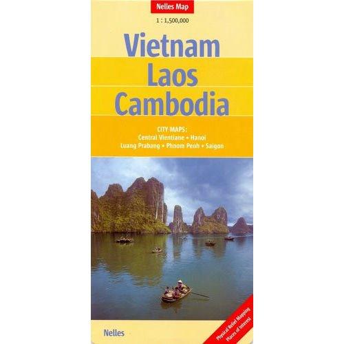 9783886186396: Vietnam, Laos, Cambodia Map (Nelles Map)