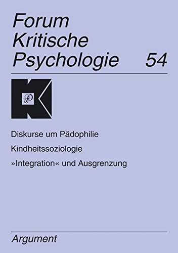 9783886197934: Diskurse um P�dophilie - Kindheitssoziologie -