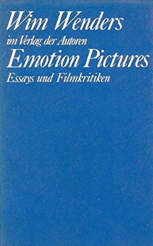 9783886610785: Emotion pictures: Essays und Filmkritiken, 1968-1984 (Theaterbibliothek) (German Edition)