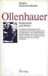9783886801442: Ollenhauer: Biedermann und Patriot (German Edition)