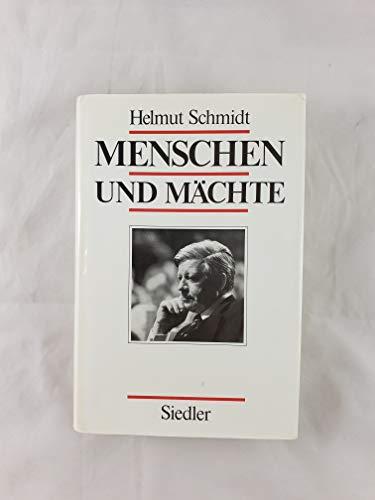 9783886802784: Menschen und Machte (German Edition)