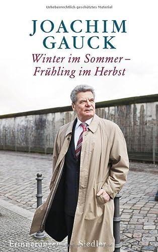 9783886809356: Winter im Sommer - Frühling im Herbst: Erinnerungen