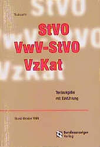 9783887849382: StVO, VwV-StVO, VzKat