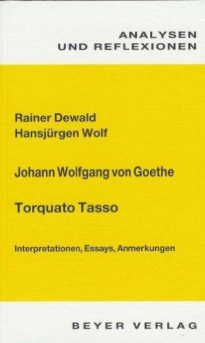 9783888051364: Torquato Tasso. Analysen und Reflexionen: Interpretationen, Essays, Anmerkungen