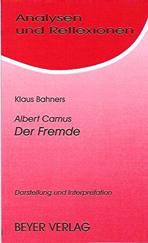 Analysen und Reflexionen, Bd.88, Albert Camus 'Der: Albert Camus