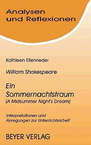 9783888053870: Ein Sommernachtstraum (A Midsummer Night's Dream). Mit Materialien