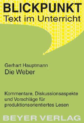 9783888055249: Die Weber - Vor Sonnenaufgang - Der Biberpelz