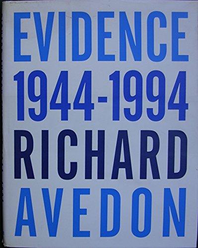 9783888147128: Richard Avedon. Evidence