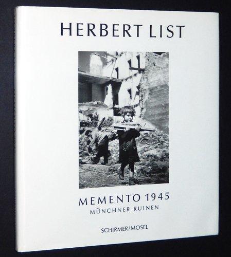 Herbert List: Memento 1945 (German Edition): Photography) Herbert List