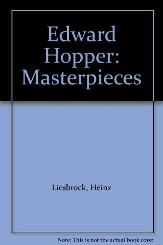 9783888149917: Edward Hopper: Masterpieces