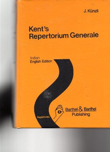 9783889500014: Kent's Repertorium Generale: English Edition