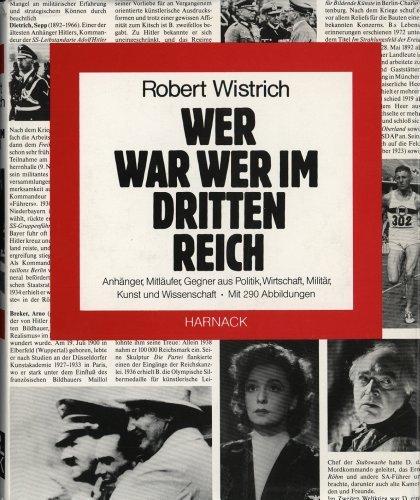 Robert Wistrich: Wer war wer im Dritten: Robert Wistrich [überarbeitete,erweiterte