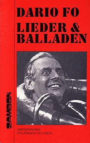 Lieder & [und] Balladen [zweisprachig ital.-dt.] =: Fo, Dario: