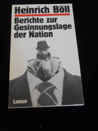 9783889771377: Berichte zur Gesinnungslage der Nation. Satire