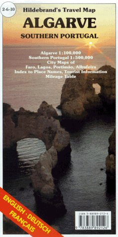 9783889892126: Hildebrand's Travel Map: Algarve (Europe) (English, French and German Edition)