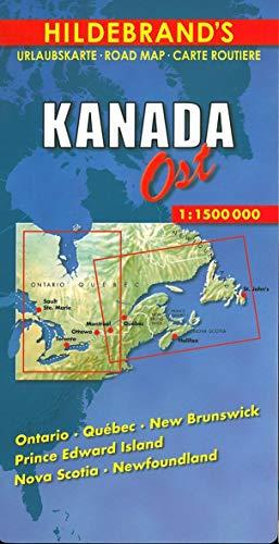 Hildebrand's Urlaubskarten, Canada, East (Hildebrand's Canada maps)