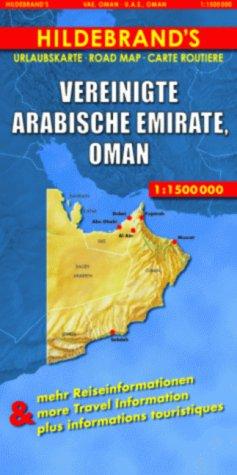 9783889892867: Hildebrand's Travel Map: United Arab Emirates/Oman (Hildebrand's Asia Maps)