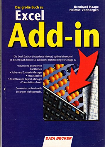 Das grosse Buch zu Excel Add-in : Haage, Bernhard und