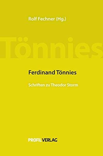 9783890196626: Ferdinand Tönnies: Schriften zu Theodor Storm