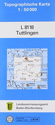 Tuttlingen 1 : 50 000: Zivilmilitärische Ausgabe