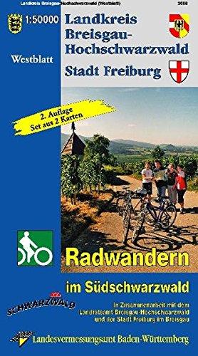 9783890217154: Breisgau-Hochschwarzwald 1 : 50 000. Radwanderkarte: Radwandern im Südschwarzwald. (West.-Ostblatt)