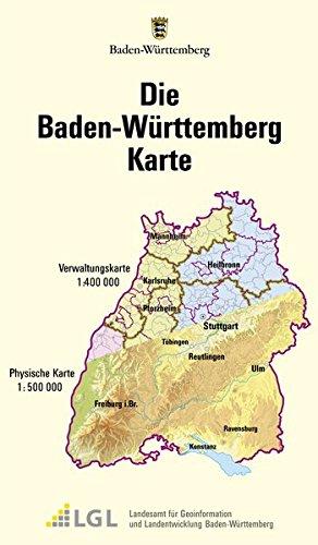 Die Baden-W�rttemberg Karte 1 : 500 000